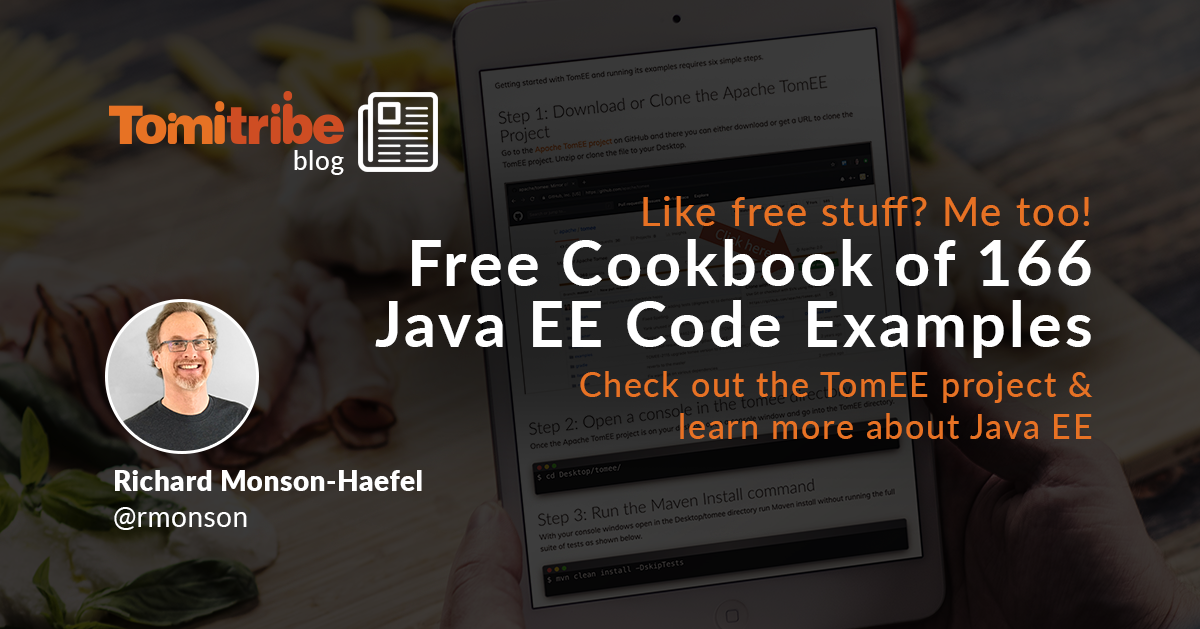 Free Cookbook of 166 Java EE Code Examples - Tomitribe